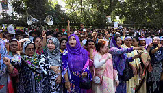 BNP form human chain protesting Khaleda's...