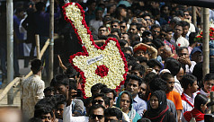 In pictures: Fans pay last respects to Ayub Bachchu