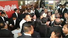 Lawyers scuffle in Supreme Court