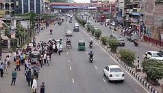 Dhaka commuters suffer as transport strike underway