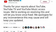 YouTube says looking into reports of...