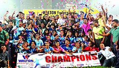 More than triple delight in Abahani's...