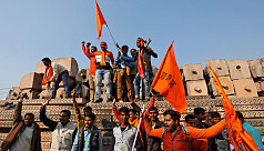 Ayodhya tense as thousands of Hindus...