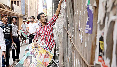 Dhaka awash with political posters,...