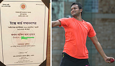 Shakib honoured as the highest taxpaying...