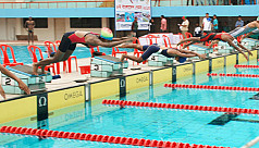 Training camp for national swimmers...