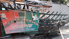 Awami League office set on fire in...