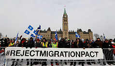 Clashes over immigration outside Canada's...