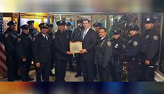 Bangladeshi-born New York policeman...