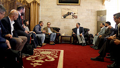 UN ceasefire monitoring chief visits...