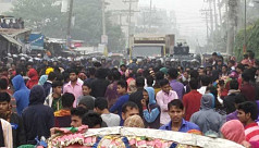 Workers from 5 RMG factories hold demo...