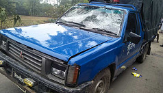 3 policemen injured and cars vandalized...