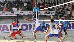 Titas, Navy and Army win in Victory Day Volleyball