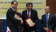 Japan Embassy signs grant agreement...