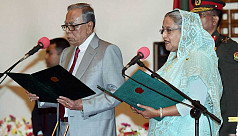 Sheikh Hasina takes oath as PM for the...