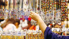 Jewellery pavilions attract large crowds...