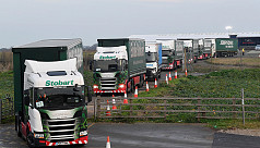 UK stages mass truck trip to Dover to...