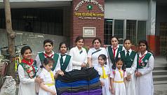 Aga Khan Girl Guides distributes warm cloths among children