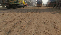 Dust pollution on Tangail highway increases...