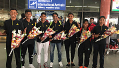 U-14 tennis team return home from...