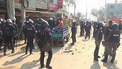 25 injured as police and RMG workers...