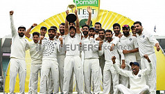 India win first-ever Test series in...