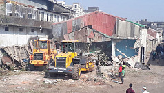 Illegal structures removed along riverbanks,...