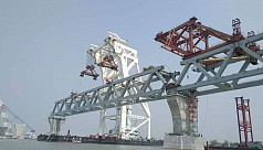 1,050 metres of Padma Bridge now visible...