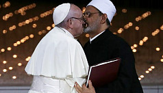 Pope Francis, Grand Imam of Egypt kiss,...