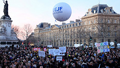 Thousands demonstrate in Paris following...