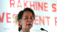 Myanmar's Suu Kyi courts investment...