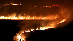 Wildfires rage across Britain after...