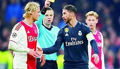 Ramos denies deliberate yellow card...