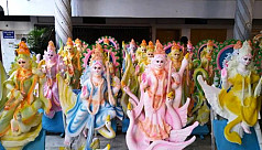 Saraswati puja fair in Tangail