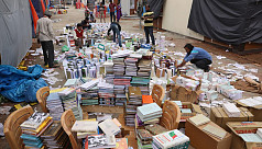 Rain damages stalls, thousands of books...