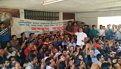 Chhatra Dal holds demo at DU VC office...