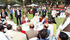 PM hosts tea party for political...
