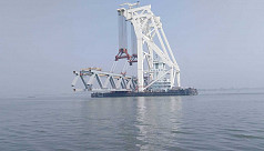 3.3km of Padma Bridge visible after installation of 22nd span