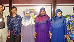 4 Rohingyas held at Dhaka airport