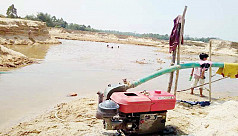 Sand extraction from Khutakhali Falls...