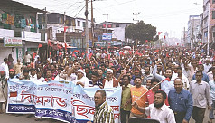 Khulna jute mill workers continue...
