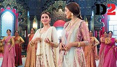 Alia Bhatt and Madhuri Dixit sing for love in 'Ghar More Pardesiya'