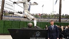 Galaxy honour David Beckham on MLS opening...