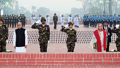 President Hamid, PM Hasina pay homage...