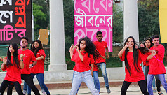 One Billion Rising Bangladesh's cultural event at Rabindra Sarobar