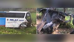 8 killed, 20 injured as bus, microbus...