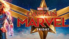Captain Marvel, a superhero with girl...