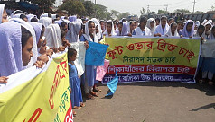 Students stage demo protesting schoolboy's...