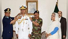 Navy Chief Aurangzeb Chowdhury promoted...