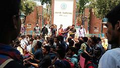Students in Rajshahi, Narayanganj join...